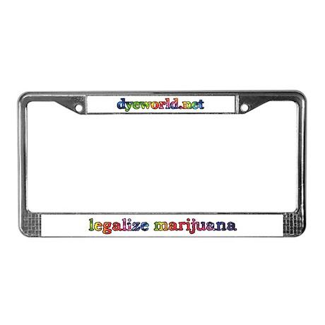 Legalize Marijuana License Plate Frame