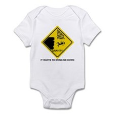 Gravity Yield Sign Infant Bodysuit