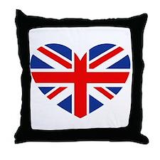 Cute British flag Throw Pillow