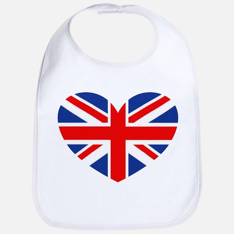 Cute British flag Bib
