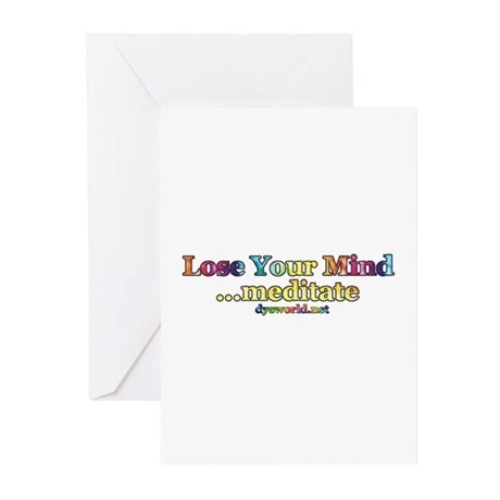 Lose Your Mind, Meditate Greeting Cards (Pk of 10)
