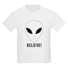 Believe! Alien Kids T-Shirt