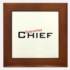 Disgruntled Chief Framed Tile