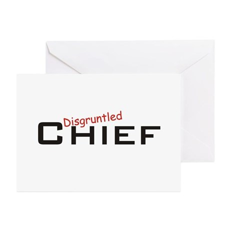 Disgruntled Chief Greeting Cards (Pk of 10)