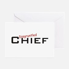 Disgruntled Chief Greeting Cards (Pk of 20)