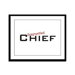Disgruntled Chief Framed Panel Print
