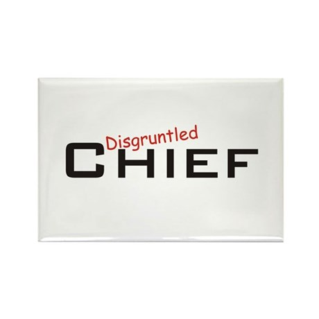 Disgruntled Chief Rectangle Magnet