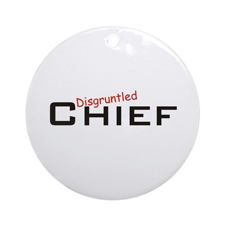 Disgruntled Chief Ornament (Round)