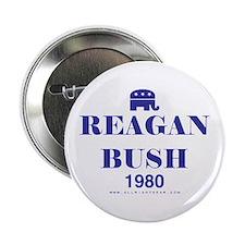 Reagan Bush 1980 Button