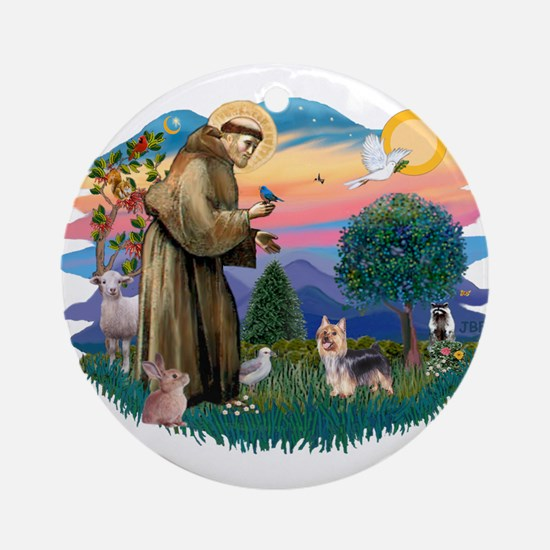 St Francis #2/ Silky Ter. #9 Ornament (Round)
