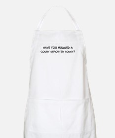 Hugged a Court Reporter BBQ Apron