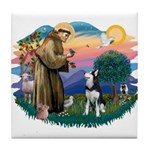St Francis #2/ Siberian H #1 Tile Coaster