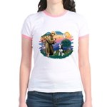 St Francis #2/ Siberian H #1 Jr. Ringer T-Shirt