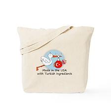 Stork Baby Turkey USA Tote Bag