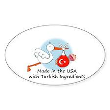 Stork Baby Turkey USA Decal