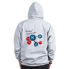 Scuba molecule Zip Hoodie