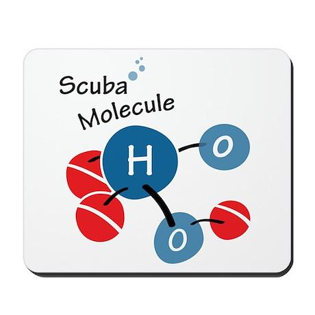 Scuba molecule Mousepad