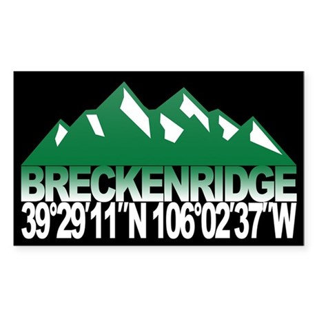 Breckenridge Colorado Sticker (Rectangle)