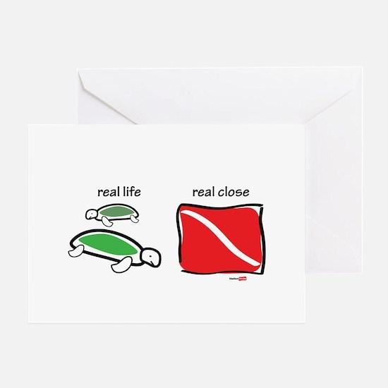 Real life and real close Greeting Card