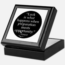Luck is what happens when pre Keepsake Box