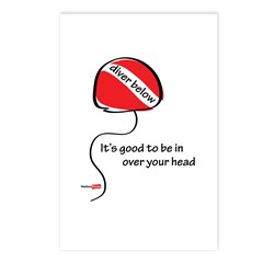 In over your head Postcards (Package of 8)