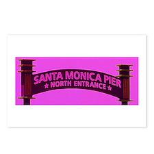 Unique Santa monica pier Postcards (Package of 8)