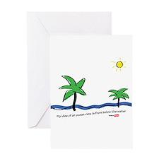 Oceanside view Greeting Card