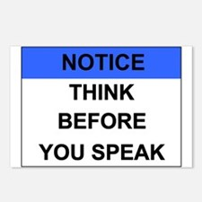 THINK Before You Speak Postcards (Package of 8)