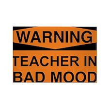 Teacher In Bad Mood 2 Rectangle Magnet (10 pack)