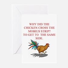funny mobius strip humor Greeting Cards (Pk of 10)