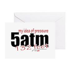 My idea of pressure Greeting Card