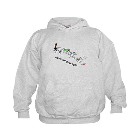 Music for your eyes Kids Hoodie