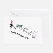 Music for your eyes Greeting Card