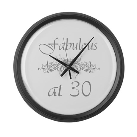 Fabulous At 30 Years Old Large Wall Clock