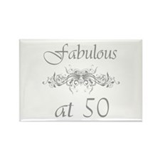 Fabulous At 50 Years Old Rectangle Magnet
