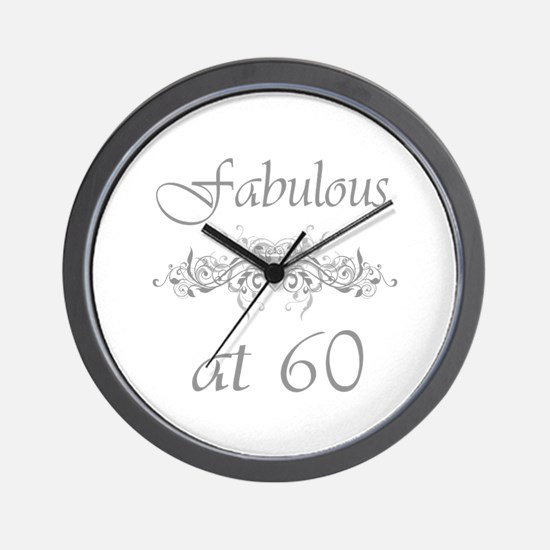 Fabulous At 60 Years Old Wall Clock