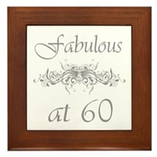 Fabulous At 60 Years Old Framed Tile