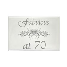 Fabulous At 70 Years Old Rectangle Magnet (10 pack