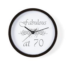Fabulous At 70 Years Old Wall Clock