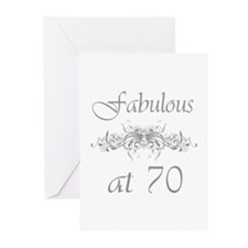 Fabulous At 70 Years Old Greeting Cards (Pk of 10)