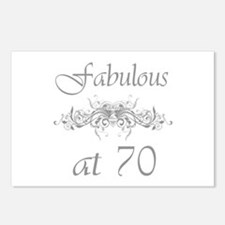 Fabulous At 70 Years Old Postcards (Package of 8)