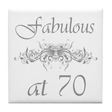 Fabulous At 70 Years Old Tile Coaster