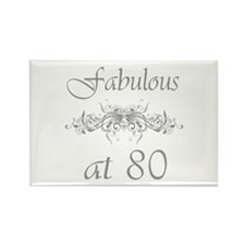 Fabulous At 80 Years Old Rectangle Magnet
