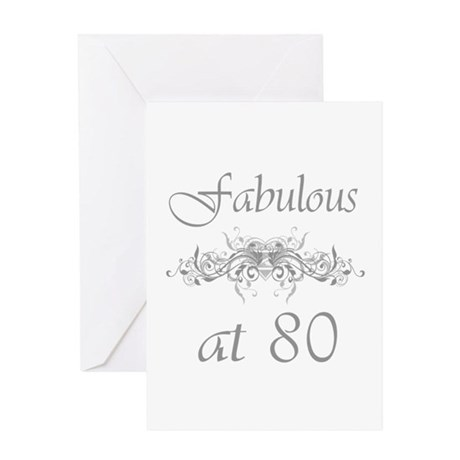 Fabulous At 80 Years Old Greeting Card