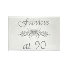 Fabulous At 90 Years Old Rectangle Magnet