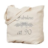 90 year old birthday Canvas Bags