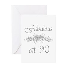 Fabulous At 90 Years Old Greeting Card
