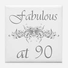 Fabulous At 90 Years Old Tile Coaster