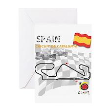 Spanish Grand Prix Greeting Card
