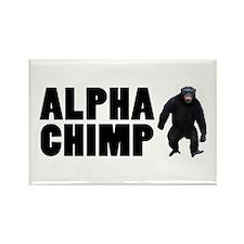Alpha Chimp Rectangle Magnet